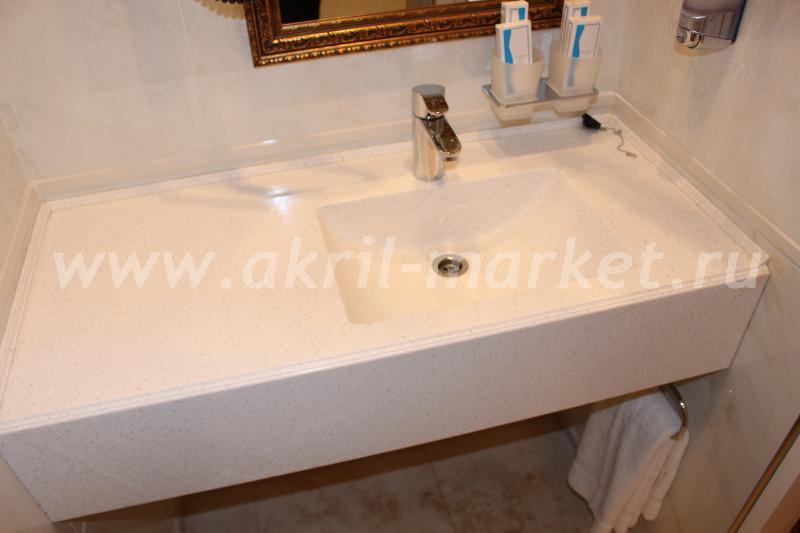Столешница для ванной в орел Стол из искусственного камня Staron Кленово